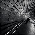 Man in the tunnel