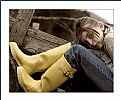 Picture Title - Her Yellow Boots