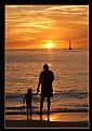 Picture Title - Father and Son at Sunset