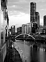 Picture Title - Melbourne Morning in Black and White
