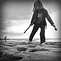 Picture Title - girl who plays in the beach I
