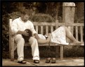 Picture Title - Park Bench Affection
