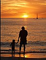 Picture Title - Father & Son at Sunset