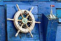 Picture Title - Old Wheel in Blue