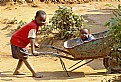 Picture Title - Kids playing in Wheelbarrow