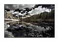lago antorno infrared dolomiti