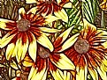 Picture Title - Rust & Yellow Daisies
