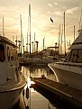 Picture Title - Setting Sun at the Marina