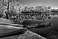 Picture Title - BW Ir...Canoes on the Beach