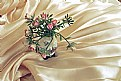 Picture Title - Tiny Roses on Pleated Fabric
