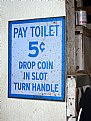 Picture Title - Pay Toilet sign