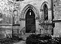 Picture Title - Gothic Entry B&W