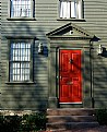 Picture Title - Red Door on Green House