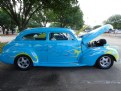 Picture Title - Blue Car with Flames Detail