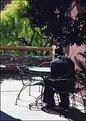 Picture Title - Strange man in empty café